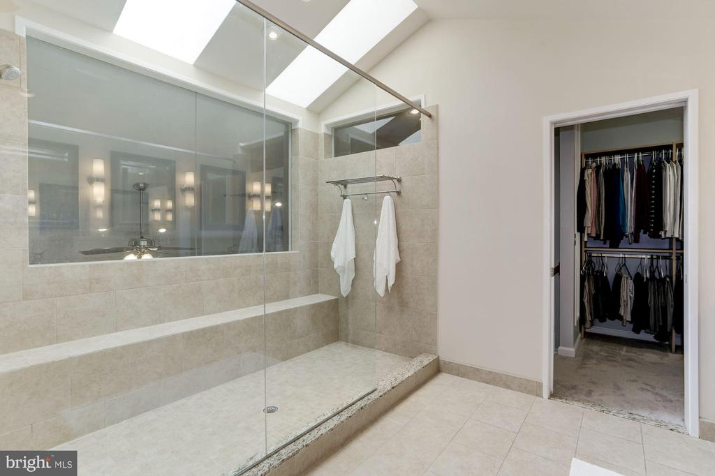 Master shower and closet - 5912 EDSON LN, ROCKVILLE