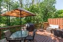 Recently built deck - 5912 EDSON LN, ROCKVILLE