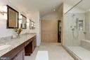 Master bath with built-in closets - 5912 EDSON LN, ROCKVILLE