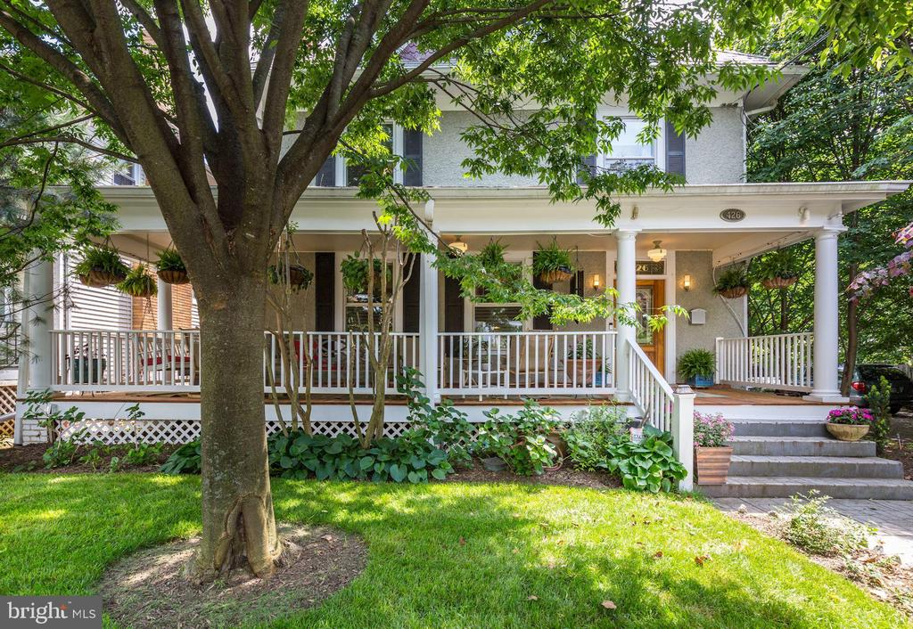 Exterior Front with Wrap-Around Porch - 426 RITTENHOUSE ST NW, WASHINGTON