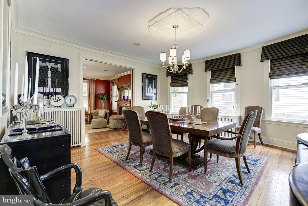 Formal Dining Room with Art Deco Medallion - 426 RITTENHOUSE ST NW, WASHINGTON
