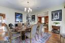Formal Dining Room with Built-in Mirrored Shelving - 426 RITTENHOUSE ST NW, WASHINGTON