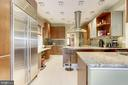 Kitchen with Subzero Refrigerator - 426 RITTENHOUSE ST NW, WASHINGTON