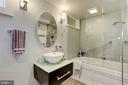 Full Bathroom - In-law Suite/ Income Unit - 426 RITTENHOUSE ST NW, WASHINGTON