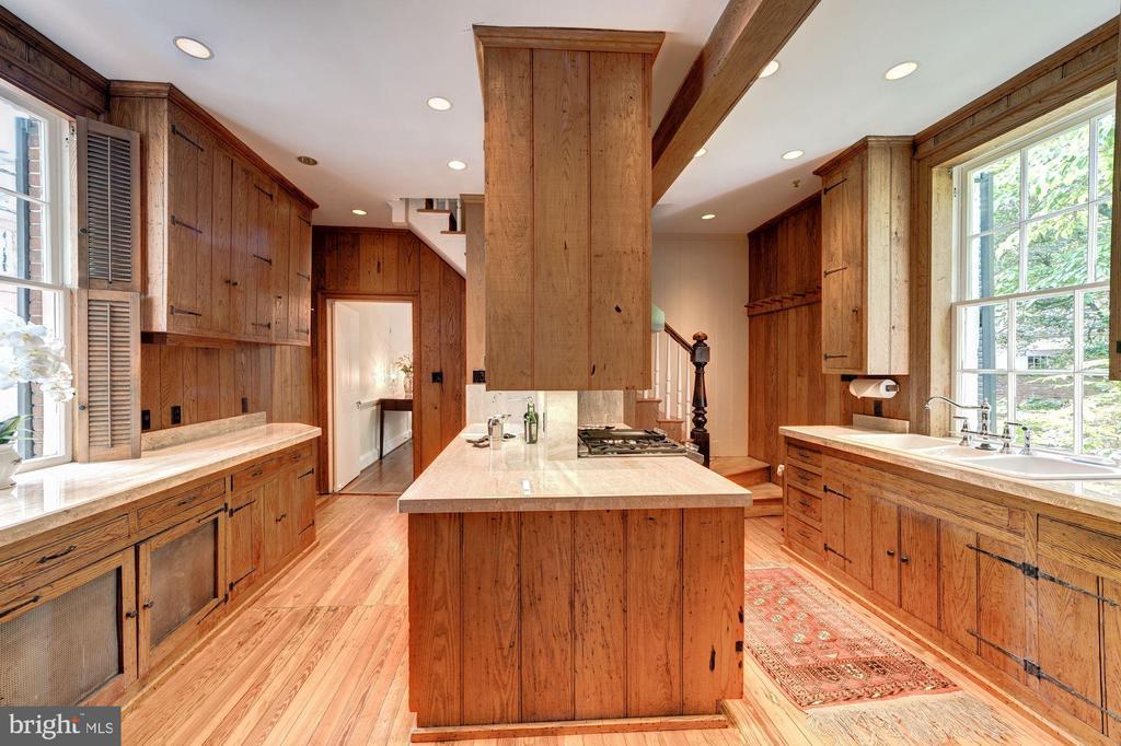 Kitchen with rear staircase - 301 S SAINT ASAPH ST, ALEXANDRIA