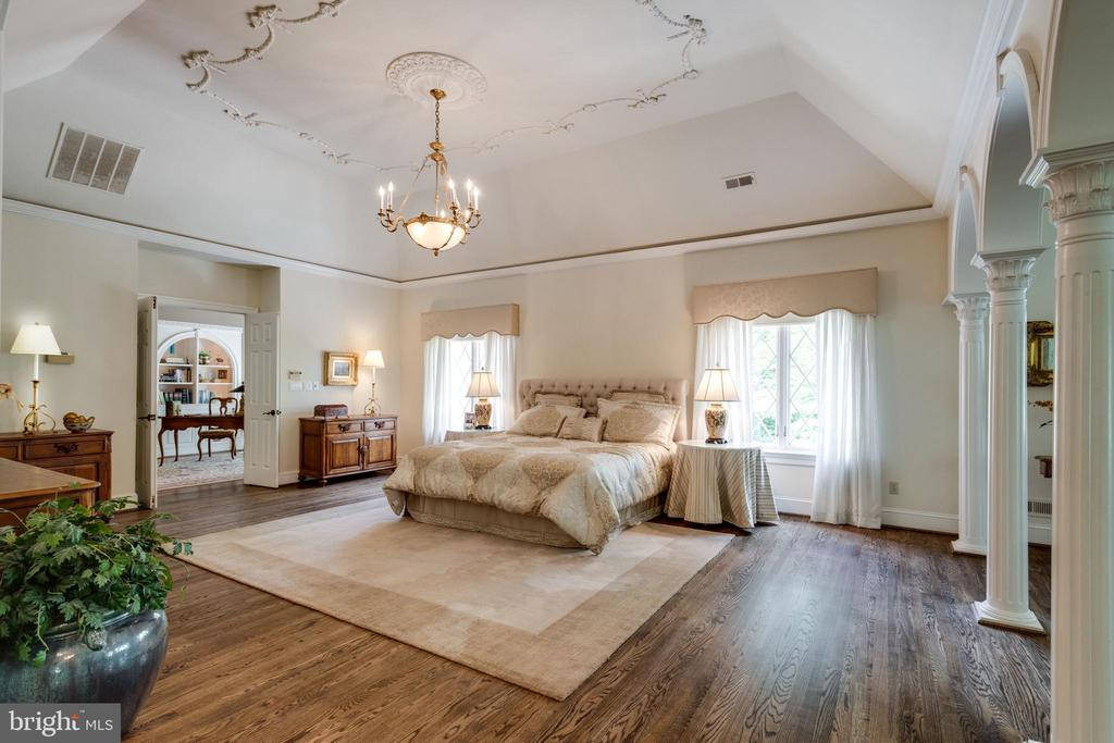 Owner's Retreat features deep tray ceiling - 10010 HIGH HILL PL, GREAT FALLS
