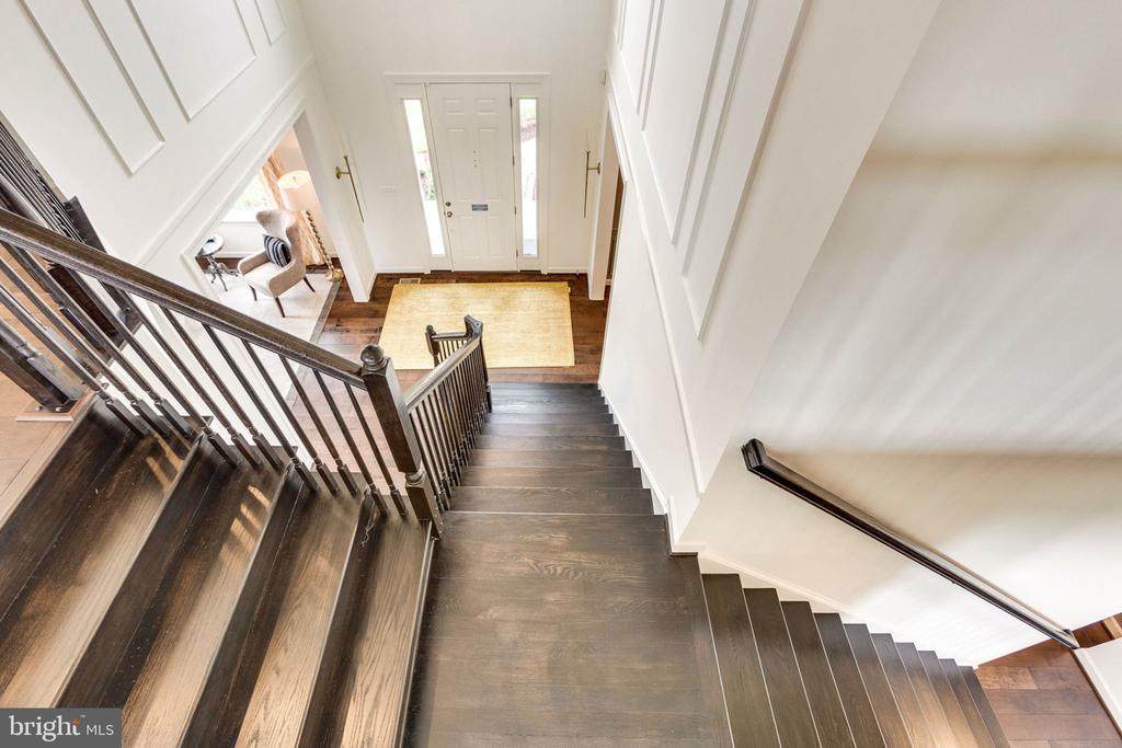 Split Staircase - view of foyer - 8705 FORMATION DR, FREDERICKSBURG