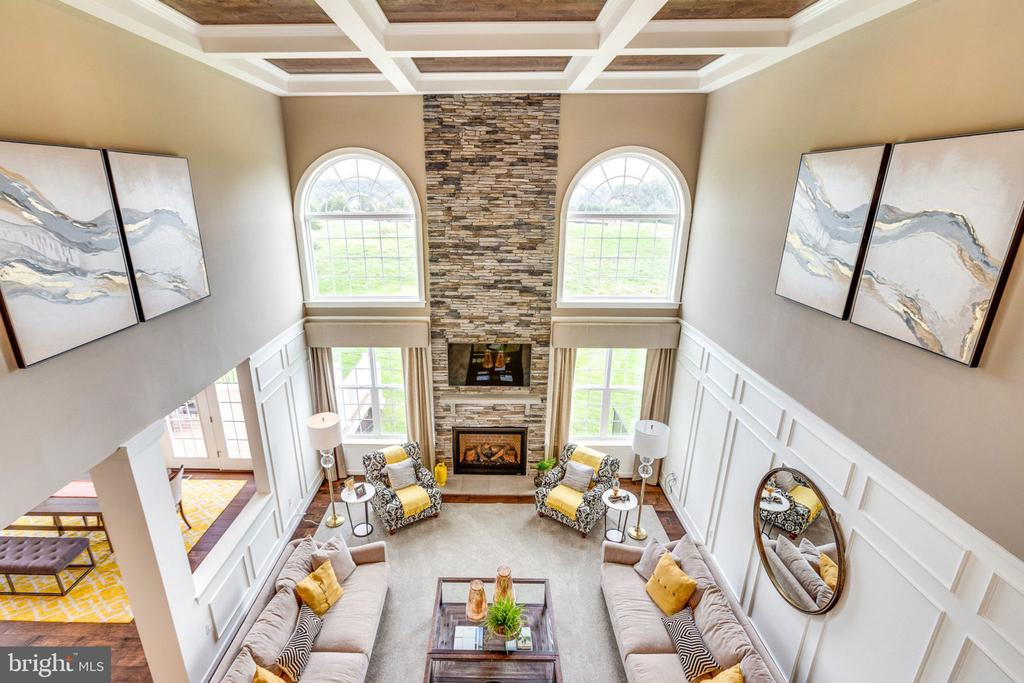 overlook view of Great Room - 8705 FORMATION DR, FREDERICKSBURG