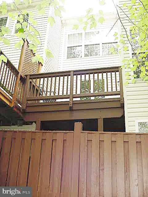 View of TH Rear - 13086 PARK CRESCENT CIR, HERNDON