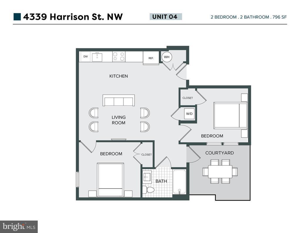 Floor plan of unit - 4339 HARRISON ST NW #4, WASHINGTON