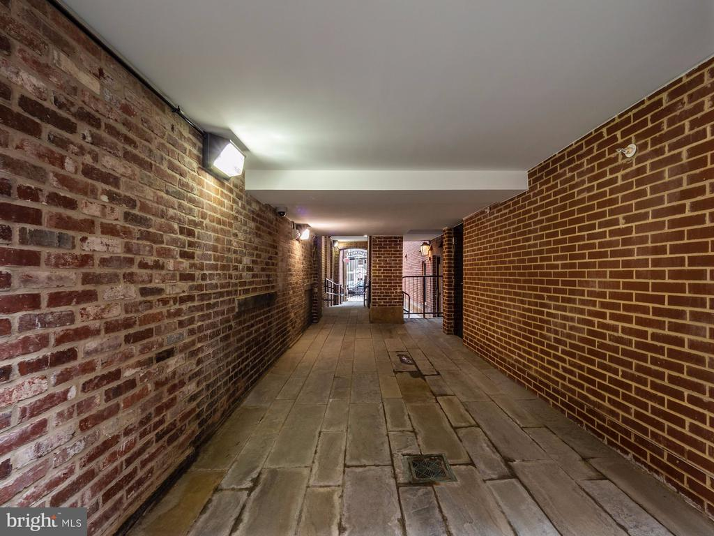 The secure and lighted all brick walkway - 1745 N ST NW #605, WASHINGTON