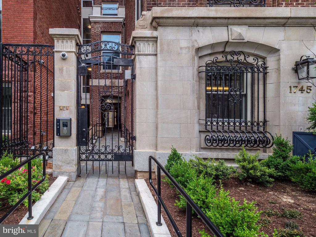 Secure iron gate entry to the Modern Flats - 1745 N ST NW #605, WASHINGTON