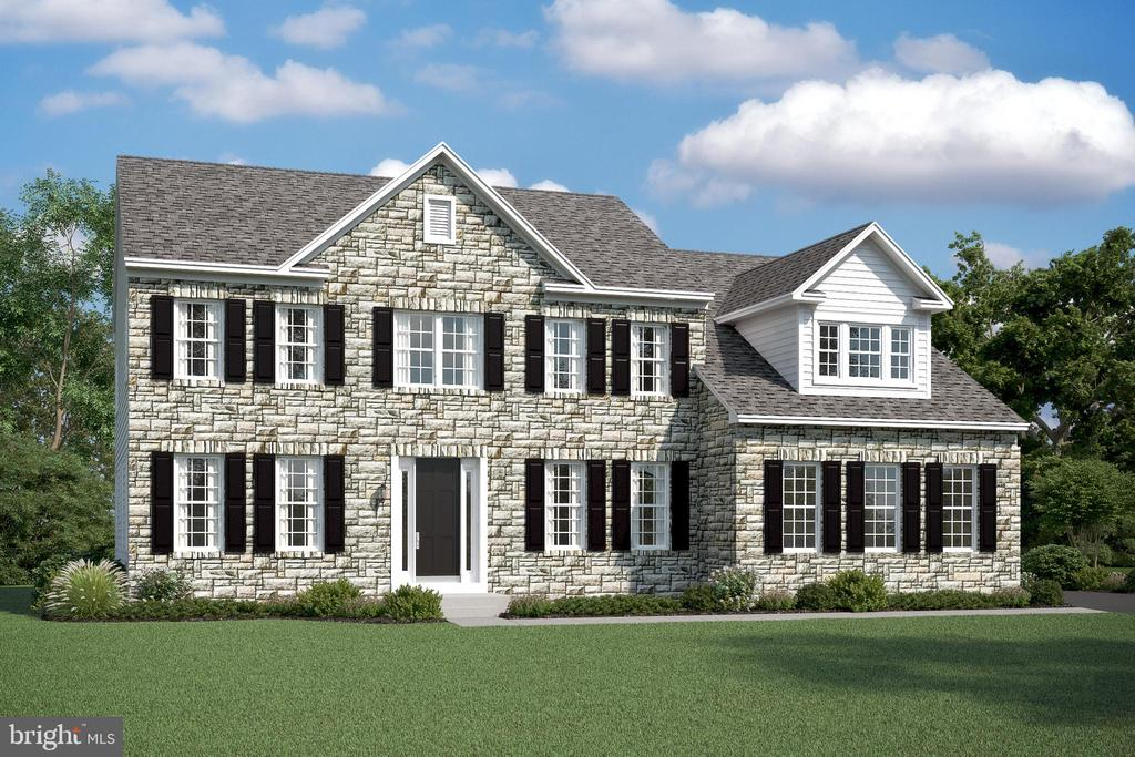 ELEVATION A - W/ OPTIONAL FULL STONE FRONT - 02 FORMATION DRIVE, FREDERICKSBURG