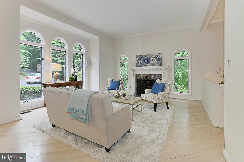 Formal living room/music room - 12709 MILL GLEN CT, CLIFTON