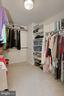 One of Two master bedroom Closets - 12709 MILL GLEN CT, CLIFTON
