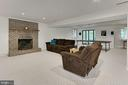 Walk out lower level with fireplace - 12709 MILL GLEN CT, CLIFTON