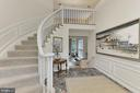 Elegant Curved Staircase - 12709 MILL GLEN CT, CLIFTON