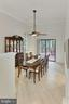 Formal Dining room opens to grand deck & backyard - 12709 MILL GLEN CT, CLIFTON