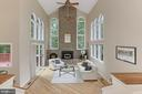 Incredible Great room with so much natural light - 12709 MILL GLEN CT, CLIFTON