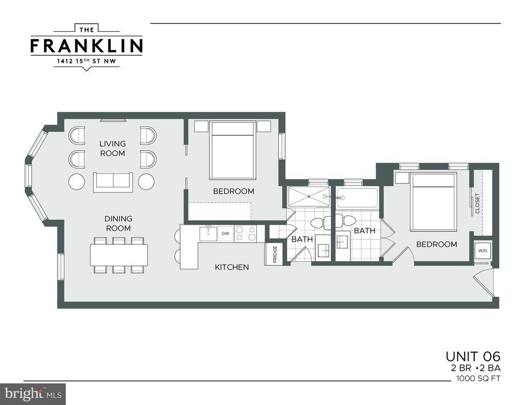 Unit 6 floor plan - 1412 15TH ST NW #6, WASHINGTON