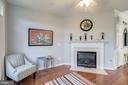 Fireplace in the kitchen sitting area - 43019 MILL RACE TER, LEESBURG