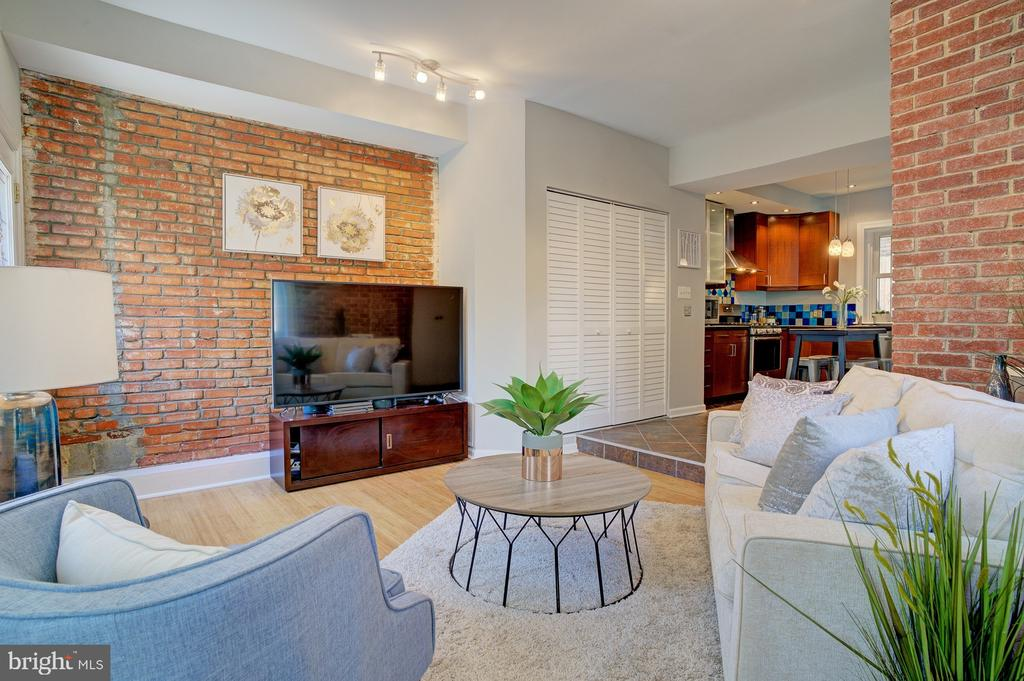 view of living area from turret - 834 11TH ST NE, WASHINGTON