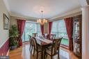 Formal Dining Room with lots of natural light. - 20888 FOWLERS MILL CIR, ASHBURN