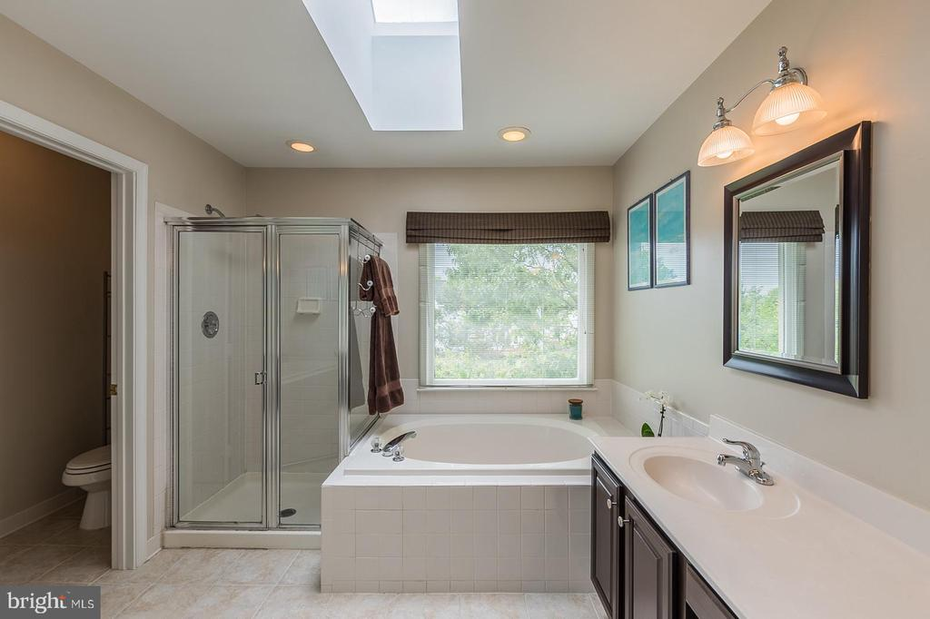 Master Bathroom with soaking tub. - 20888 FOWLERS MILL CIR, ASHBURN