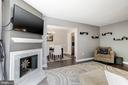 Cozy fireplace in living room - 2855 COORS PARK CT, FALLS CHURCH