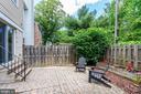 Private brick patio - 2855 COORS PARK CT, FALLS CHURCH