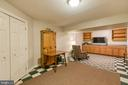 Basement with Built-ins - 6803 LAKERIDGE DR, FREDERICKSBURG