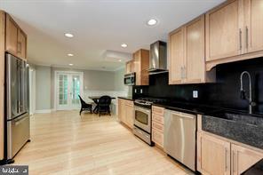 Gourmet kitchen w/ hardwoods & recessed lights - 3206 FOX MILL RD, OAKTON
