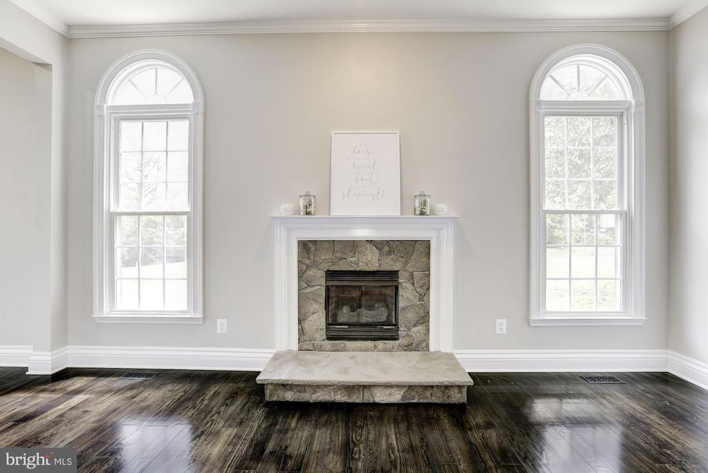 Family Room w/ Beautiful Stone Fireplace - 232 MARYLAND AVE, HAMILTON
