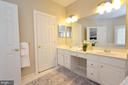 Double Vanities in Master Bath - 43013 MILL RACE TER, LEESBURG
