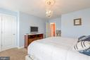 Decent sized bedroom with good size closet - 222 POLARIS DR, WALKERSVILLE