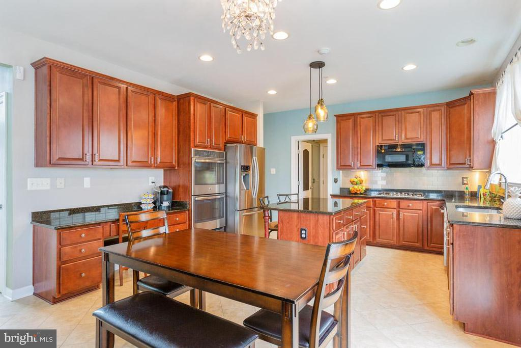 Recessed lighting and beautiful chandelier fixture - 222 POLARIS DR, WALKERSVILLE