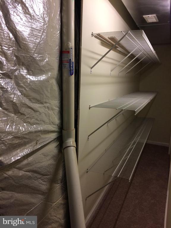 Additional storage & radon remediation system vent - 12302 HUNGERFORD MANOR CT, MONROVIA