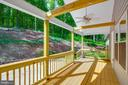 Front Porch with Ceiling Fan - 325 BLUE SKY RD, LINDEN