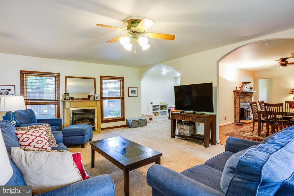 Downstairs Family Room with Gas Fireplace - 141 CHOPTANK RD, STAFFORD
