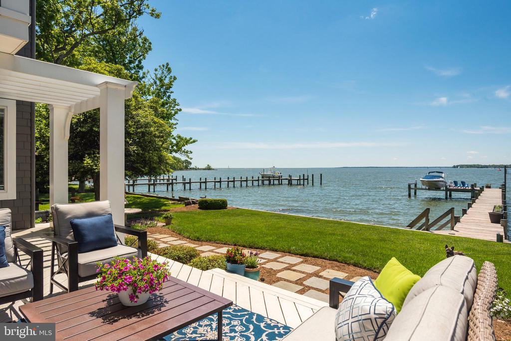 Gracious patio for full enjoyment of the Bay. - 3752 THOMAS POINT RD, ANNAPOLIS