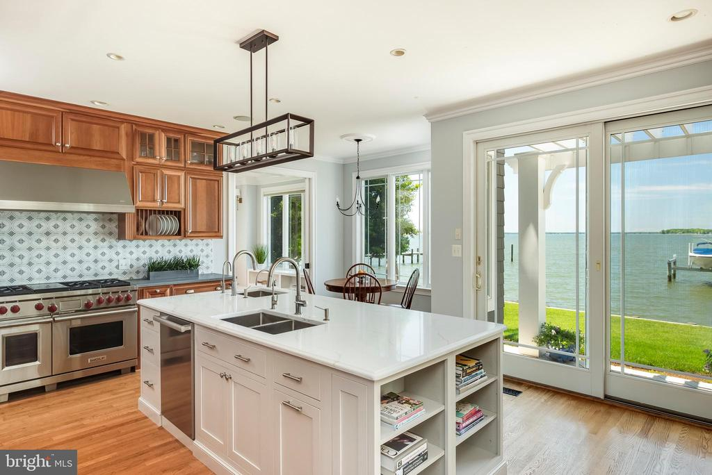 Water Views from every angle in the Kitchen. - 3752 THOMAS POINT RD, ANNAPOLIS