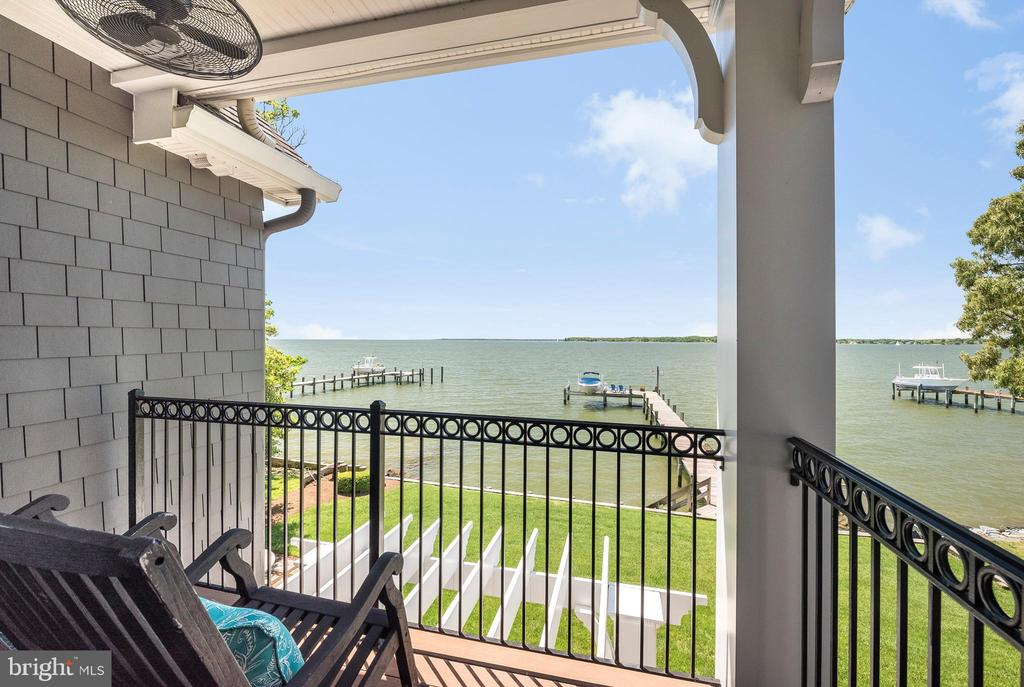 View of South River from Master BR Deck. - 3752 THOMAS POINT RD, ANNAPOLIS