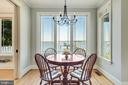 Water views from the kitchen table. - 3752 THOMAS POINT RD, ANNAPOLIS
