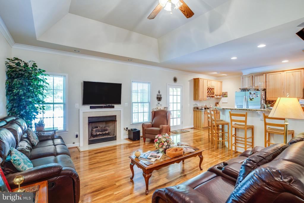 Family Room off Kitchen with Gas Fireplace - 96 CASCADE LN, FREDERICKSBURG