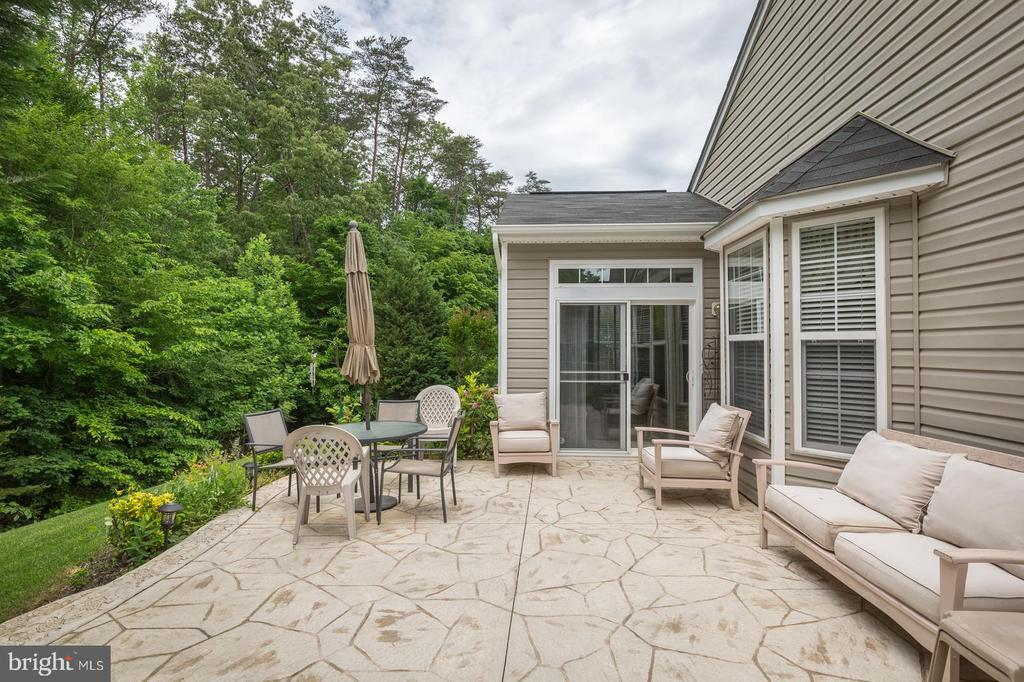 Large Patio  at Rear of Home - 16096 DANCING LEAF PL, DUMFRIES