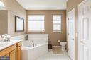 Master Bath with Separate Shower and Soaking Tub - 16096 DANCING LEAF PL, DUMFRIES