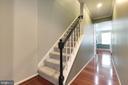 Hallway with endless Cherry Wood Floor - 5904 AMBASSADOR WAY, ALEXANDRIA