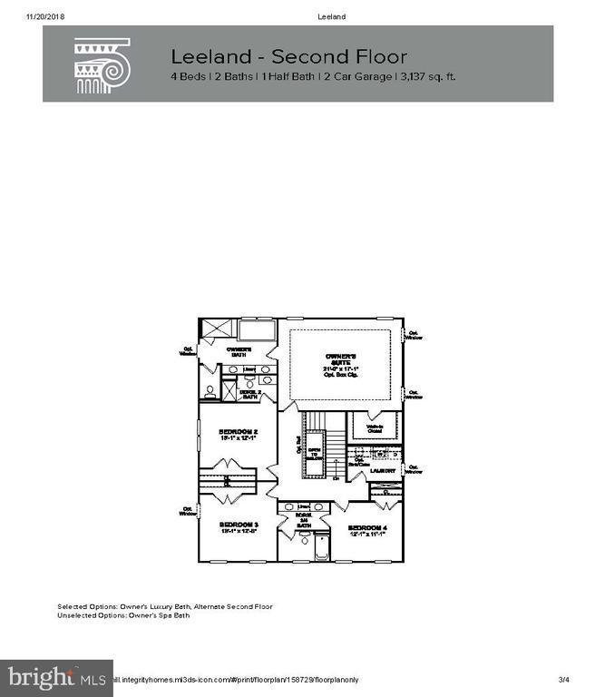 Upper Level Layout - 204 BOXELDER DR, STAFFORD
