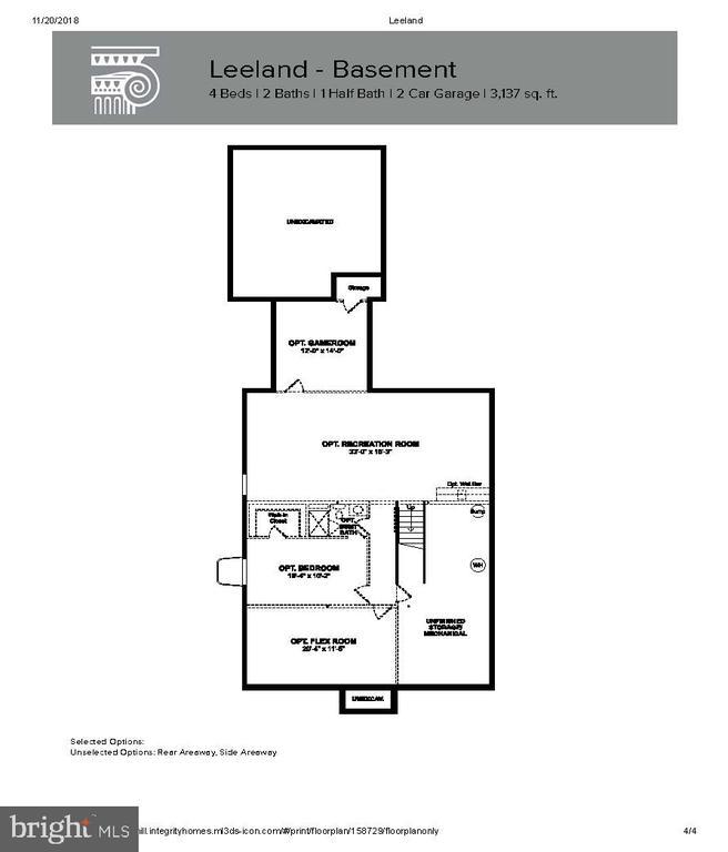 Basement Layout - 204 BOXELDER DR, STAFFORD