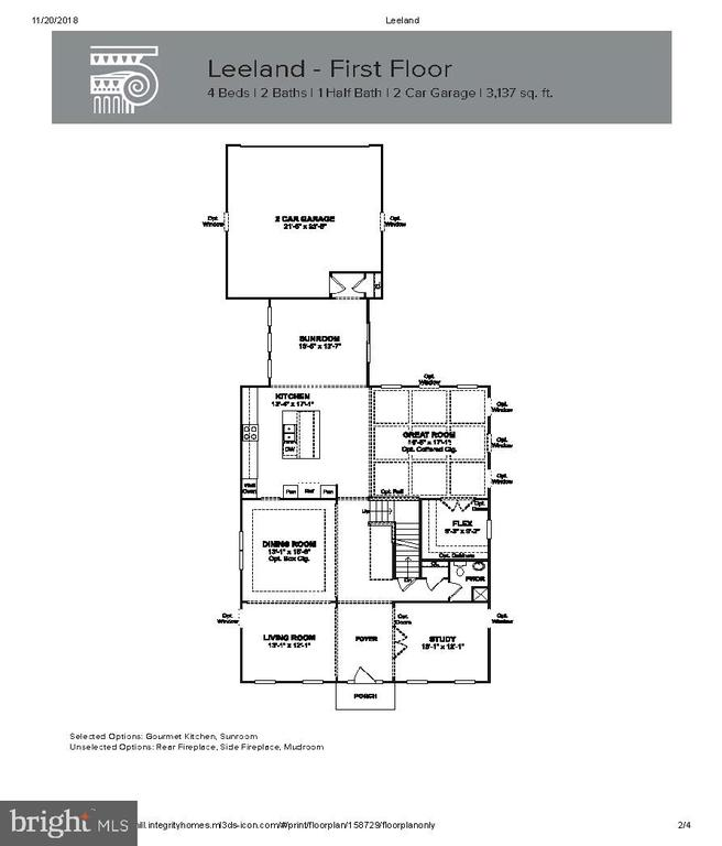 Main Level  Floor Layout - 204 BOXELDER DR, STAFFORD